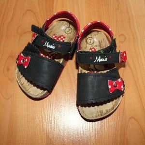 Other - Minnie Mouse Sport Sandals Girls Sz 7 Cork Sole